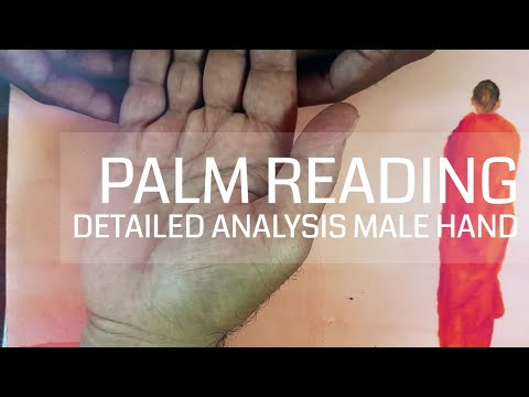 Palmistry | Male Right Hand Reading  | Live Demonstration   Detailed Hand Print Analysis