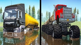 Beamng drive - Large vs Little Wheels #3