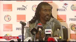 Conférence de presse Aliou Cissé avant Sénégal-Madagascaer (wolof)