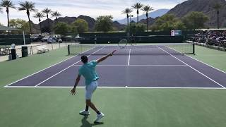 Dominic Thiem (4k 60fps) Massive Hitting Practice Indian Wells 2019