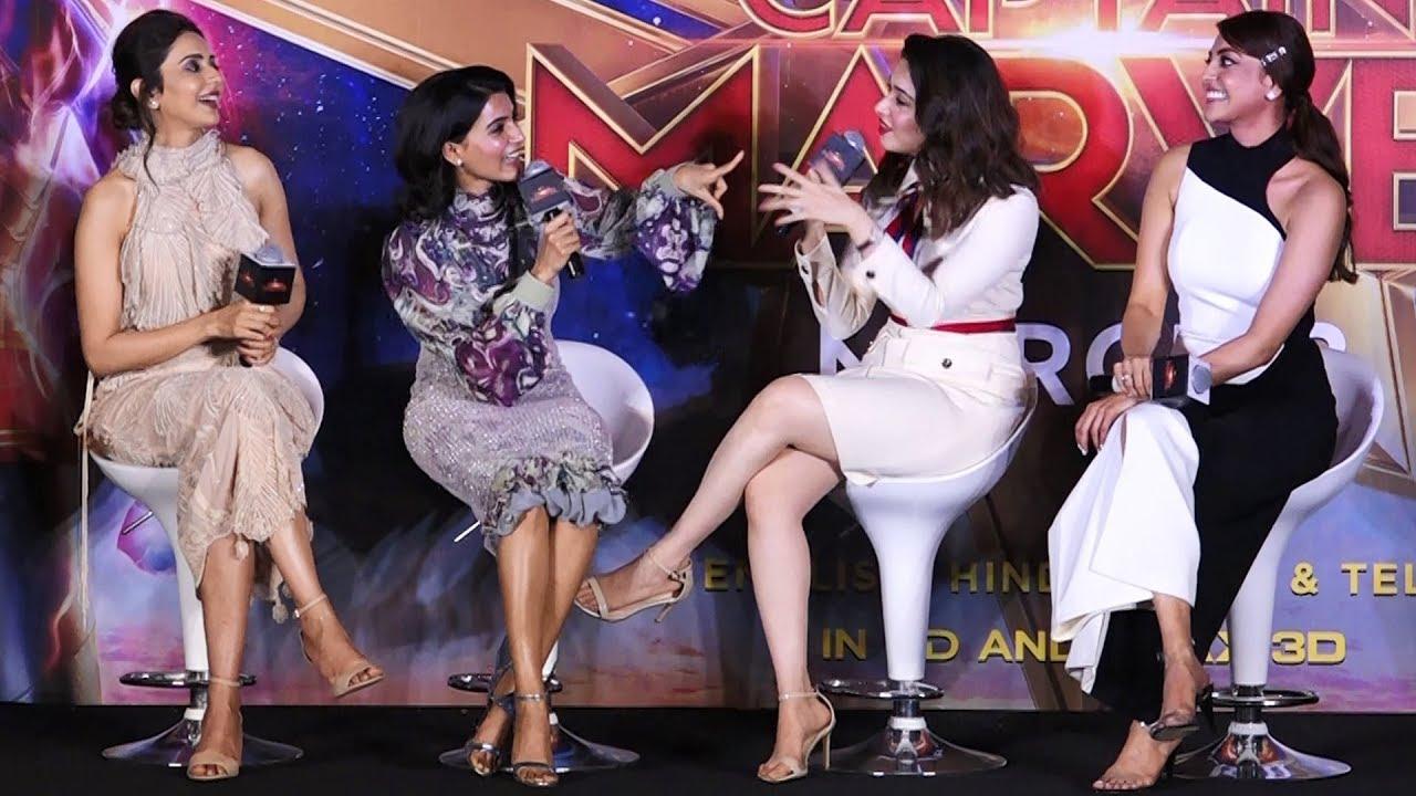 Download Vijay or Ajith...? Samantha, Tamannaah, Kajal Agarwal & Rakul Preet Conversation   Captain Marvel