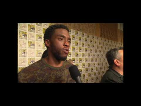 Chadwick Boseman Interview On Black Panther and San Diego Comic Con Hall H Reaction #SDCC