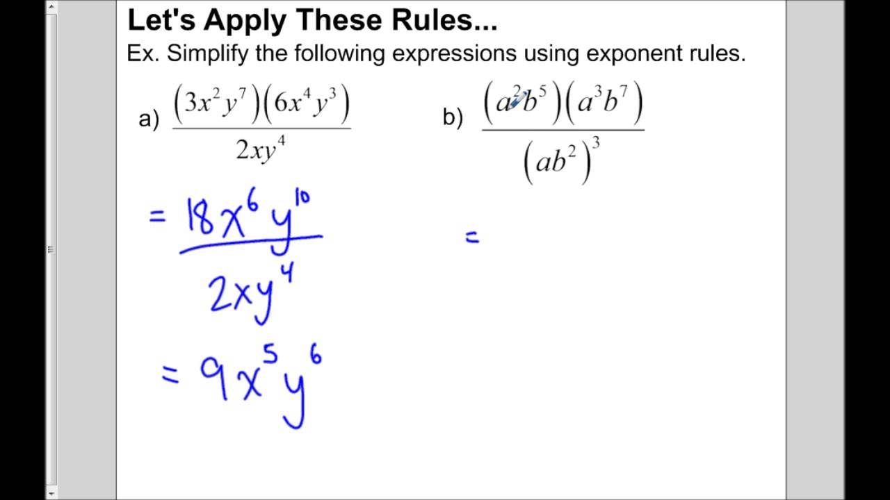 Multiplying and Dividing Monomials YouTube – Multiply and Divide Monomials Worksheet