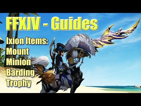 FFXIV How to get Ixion Mount, Minion, Barding and Trophy Guide - Stormblood