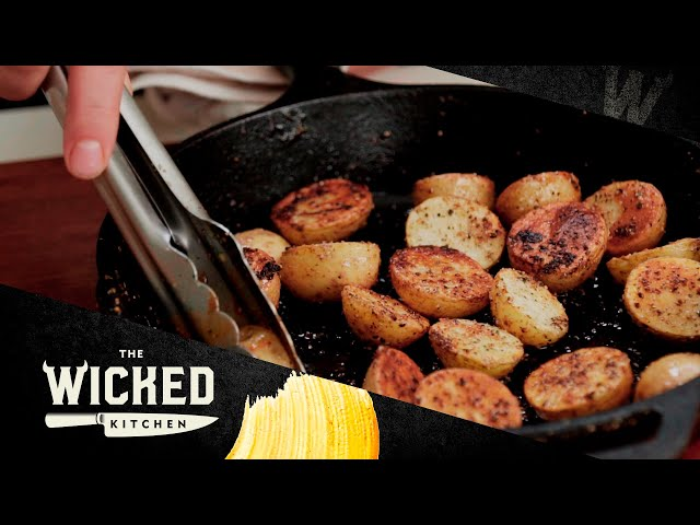 Black Pepper Cast Iron Potatoes - in less than 20 minutes! | The Wicked Kitchen