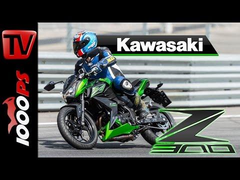 2015   Kawasaki Z300 Test Rennstrecke