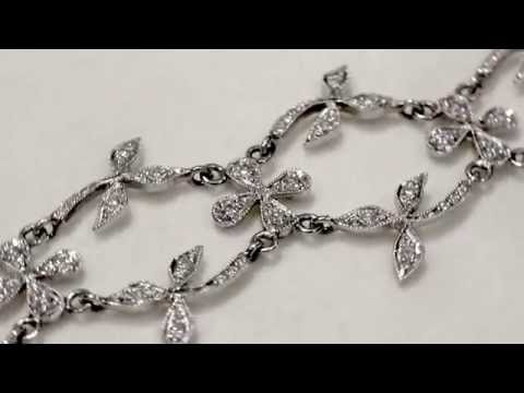2.64 ct Diamond and Platinum Bracelet - Vintage Circa 1980 - AC Silver A1150
