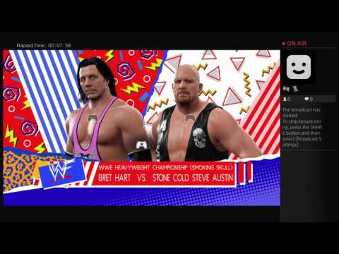 No way out 2001 main event wwe2k17 Bret Hart vs stone  cold