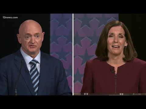 Sen. Martha McSally And Mark Kelly Debate Before Early Voting In Arizona Begins