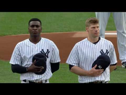 Yankees honor victims of Manchester tragedy prior to first pitch