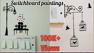 2 attractive Switch Board painting ideas ll switch board painting