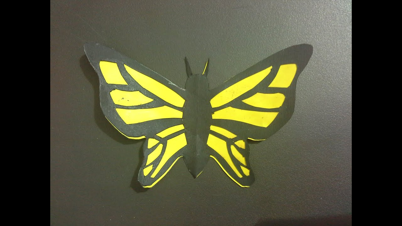 how to make a paper butterfly step by step (tutorial) \