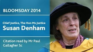 UCD Honorary Degree of Doctor of Laws for Susan Denham | Bloomsday 2014