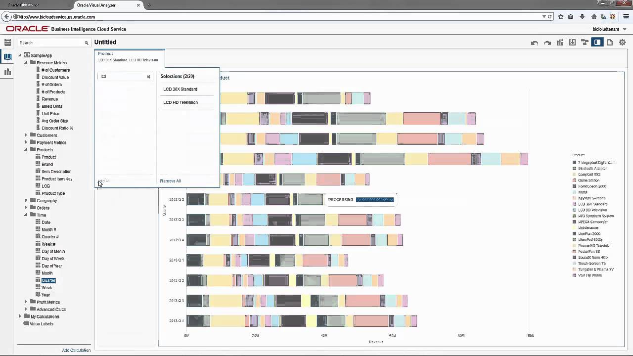 Oracle bi cloud amp data visualization cloud visual