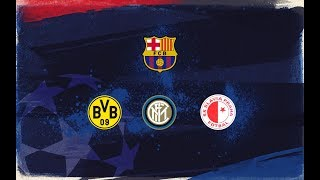 Fc barcelona will face borussia dortmund, internazionale and slavia prague in the 2019/20 champions league group stage following to draw which took pl...