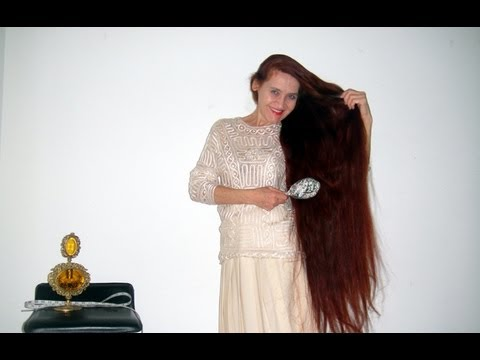 Sarah Super Long Hair makes elegant modern hairstyle - YouTube