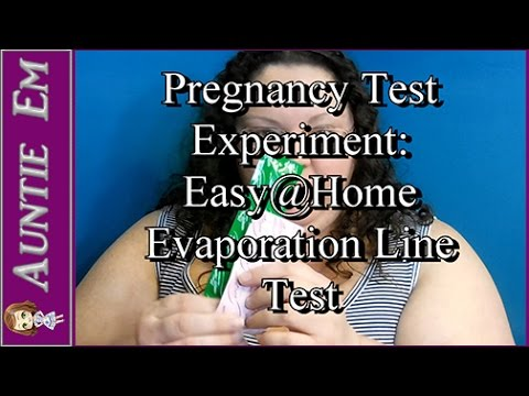 Pregnancy Test Experiment: Easy@Home 24 Hour Evap Test