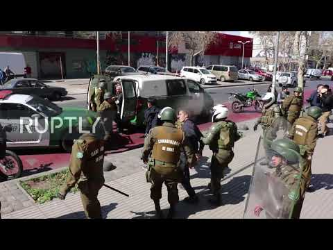Chile: Several Detained As Student Protesters Clash With Police