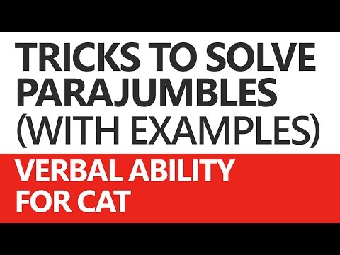 Parajumbles (Verbal Ability) for CAT: Solving Techniques and Examples - Unacademy