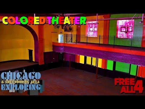 Exploring an Abandoned Multi Colored Theater in Chicago