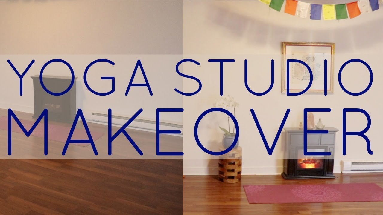Yoga Studio Makeover Diy Decor Youtube