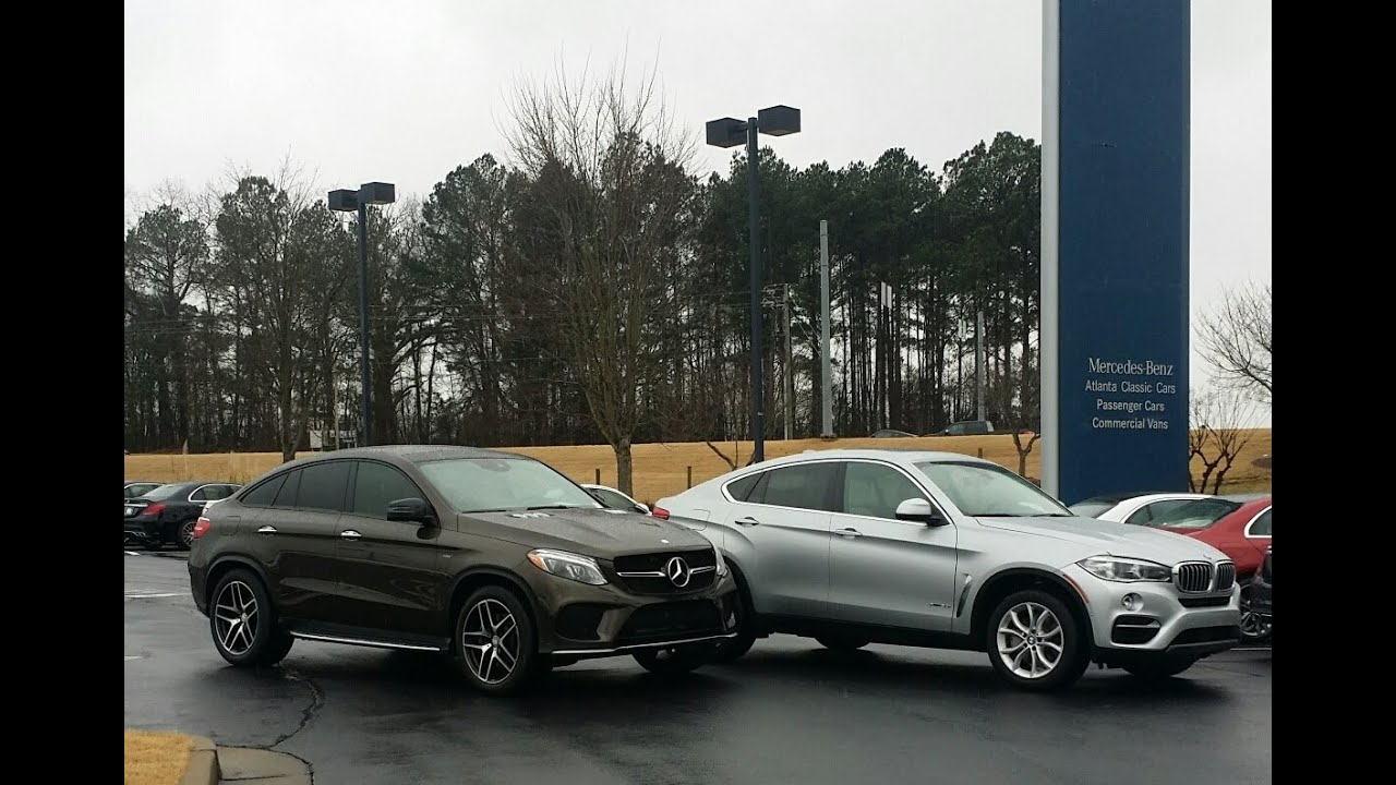 Comparing the mercedes benz gle450 and bmw x6 youtube for Mercedes benz x6