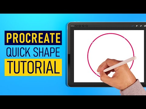 Procreate Quick Shape Tutorial (2019) - Procreate Tips