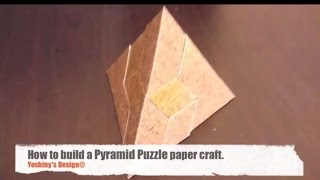 How to make Pyramid Puzzle PaperCraft