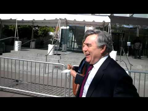 Capitol Intel films former UK Prime Minister Gordon Brown at IMF World Bank Spring Meetings #IMF