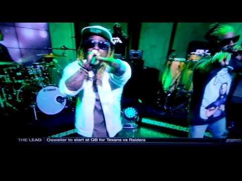 Wale & Lil Wayne on First Take performing