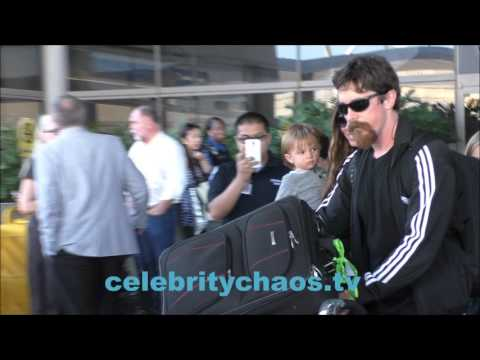 Actor Christian Bale and family return to Los Angeles