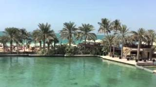 View of the beach and Burj Al Arab from the Madinat Jumeirah Mina A'Salam Al Samar Lounge Dubai