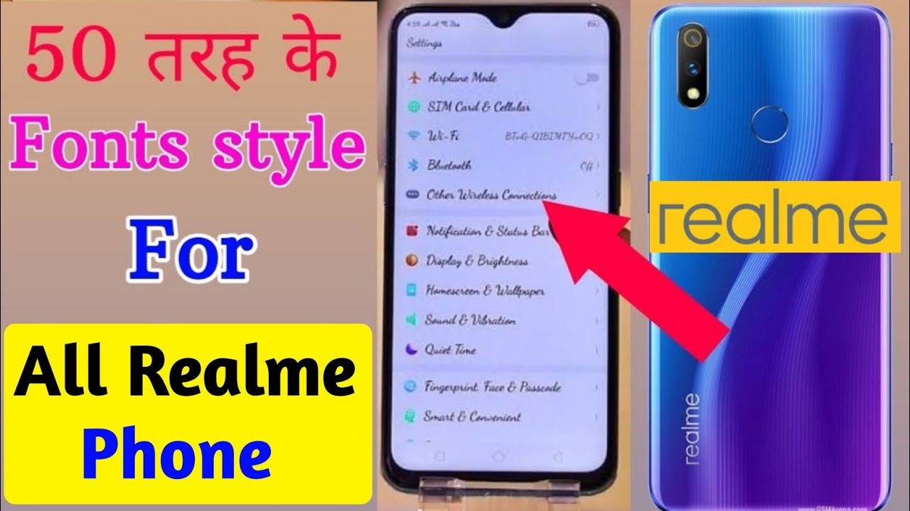 50 Fonts styles for Realme 3 Pro |Change font style on Realme 3 Pro |