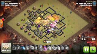 Clash of Clans TH9 Mass Minion GoVa Minion 3 STAR ATTACK