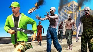 Playing GTA 5 Iฑ A ZOMBIE APOCALYPSE! (Scary)