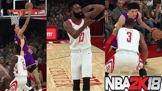 NBA 2K18 Mycareer Lonzo Ball 38Pts Vs James Harden Part22