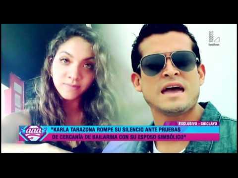 Karla Tarazona rompe su silencio y habla de ampay de Christian Domínguez