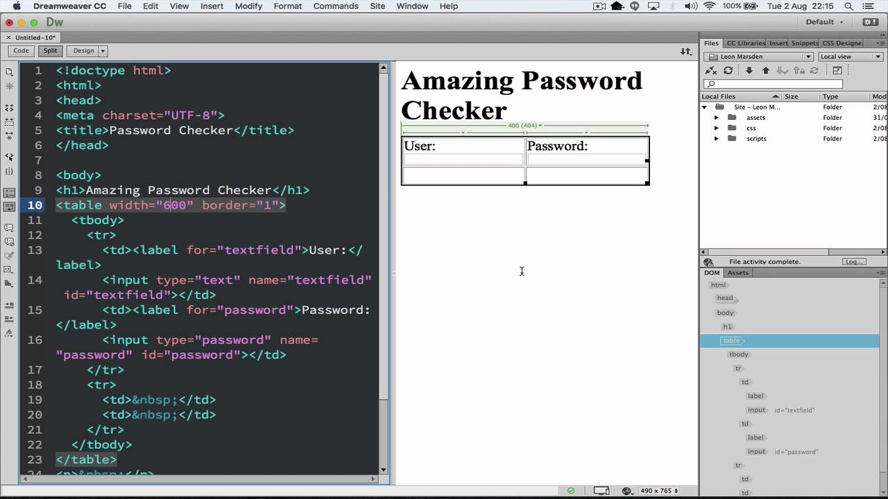 Creating And Labeling A Html Interface For Programming In