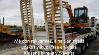 Matti Esko - Rekkamies [Sanat/Lyrics]
