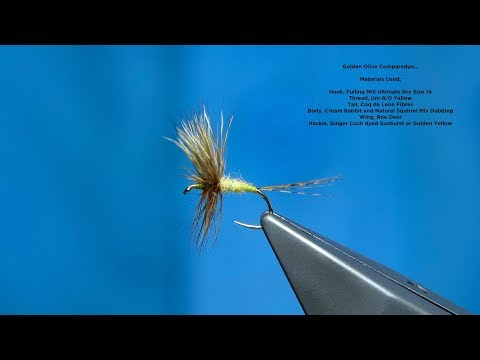 Tying a Golden Olive Comparadun by Davie McPhail