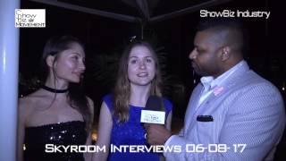 Skyroom NYC Fashion Interviews 06-08-17 by Sakar- www.ShowBizMovement.com