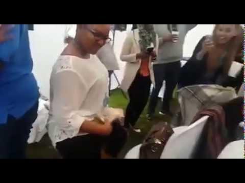 Andrew Kabogo Celebrating Winning Millions