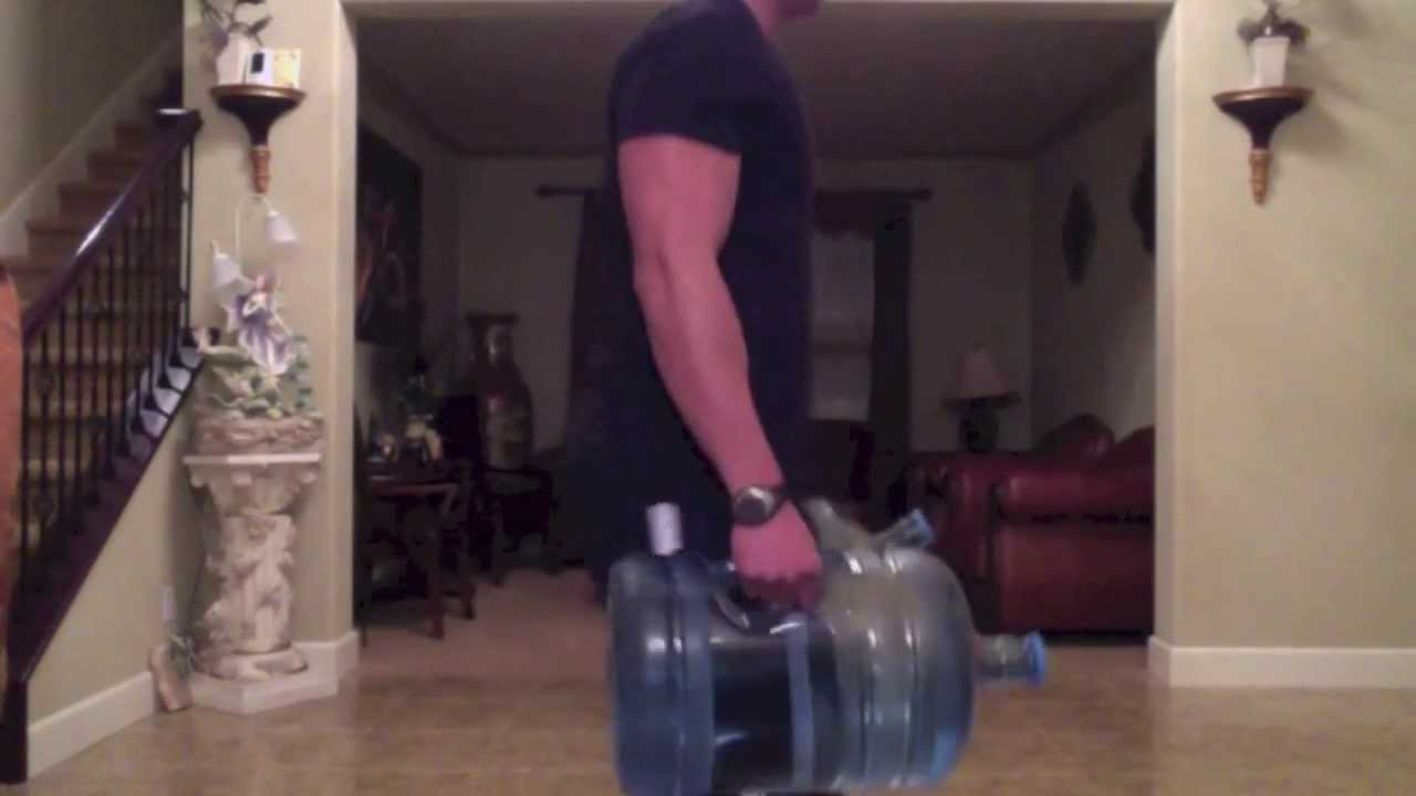 6 Water Jug Exercises To Do At Home Youtube