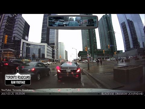 Driving in Toronto - Rainy Saturday Morning Cruise - March 2017 - Combined View
