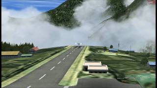 Landing at Lukla using a Cessna Caravan in FSX