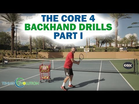 The Core 4 of the Backhand Drills Part 1 | Online Tennis Lessons 2018