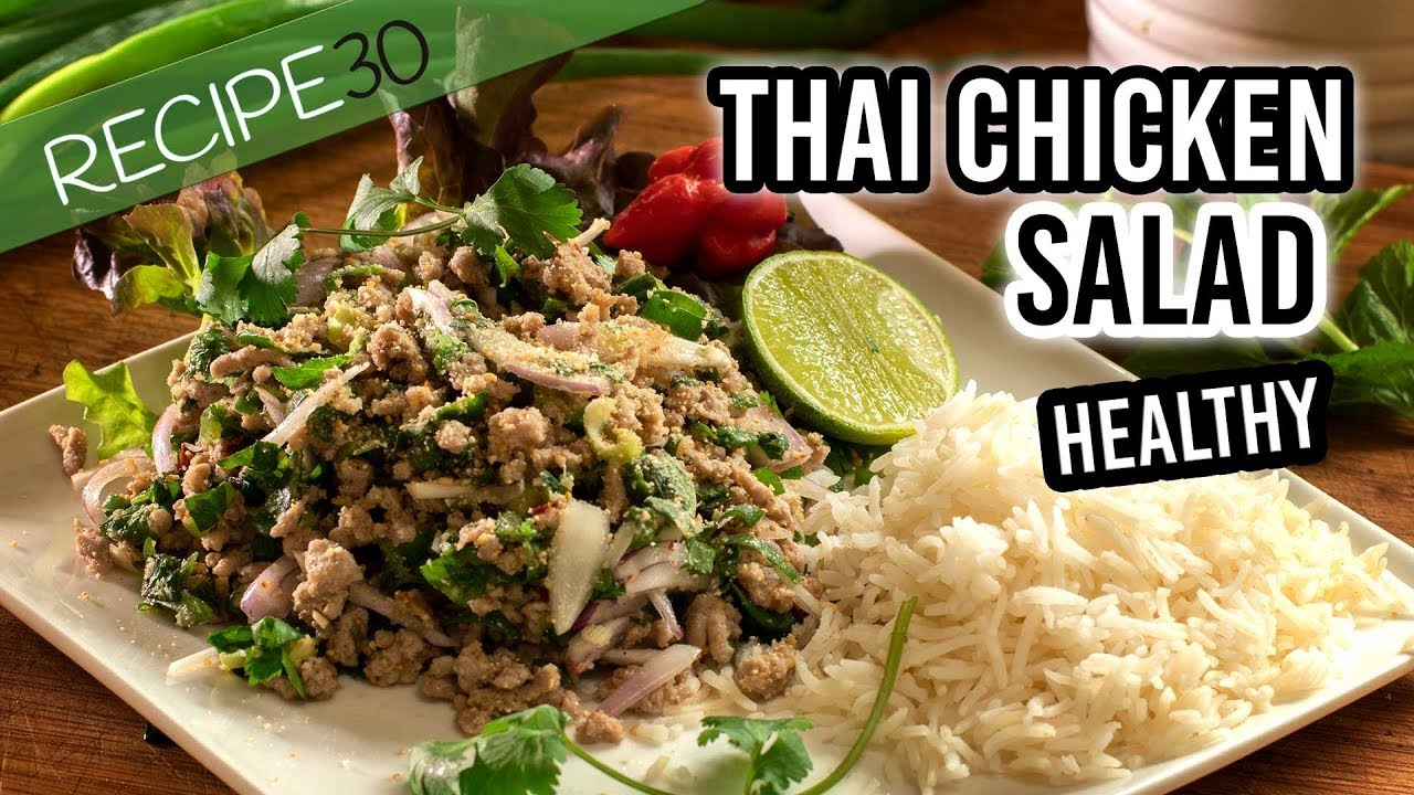 how to make thai salad youtube