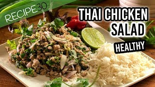Chicken or Pork Thai larb healthy salad