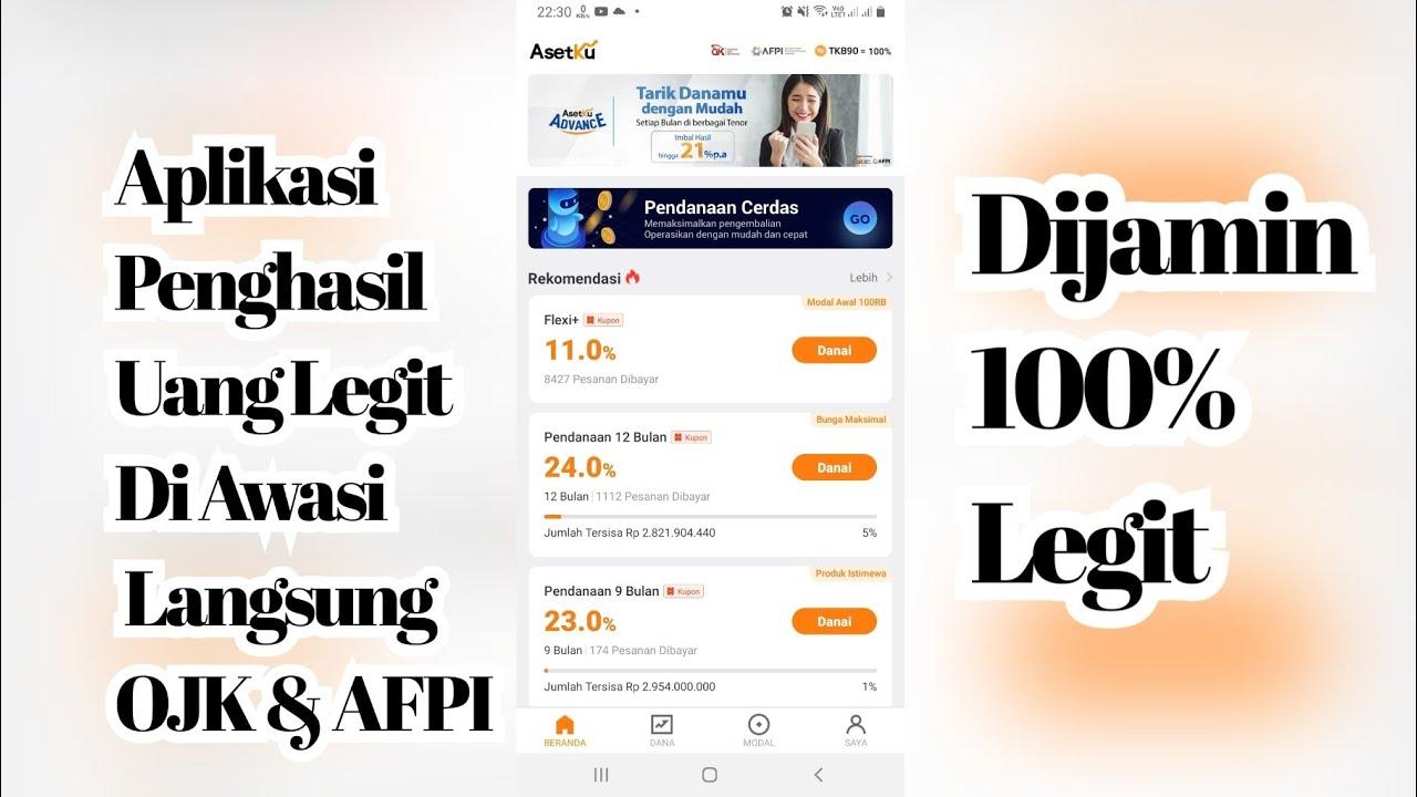 Aplikasi Penghasil Uang Legal - Di aplikasi ini anda bisa ...