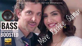 Mere Rashke Qamar |||  UNFAK |🎧| Bass Boosted Hindi Song ||| Hrithik  Roshan